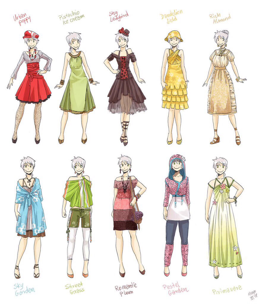 how to draw anime dresses for girls