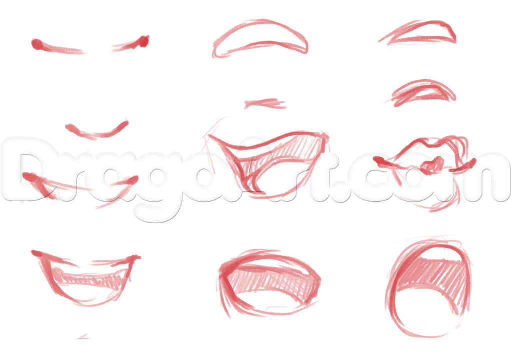 1024x719 anime smiles girls easy to draw how to draw anime girl faces step