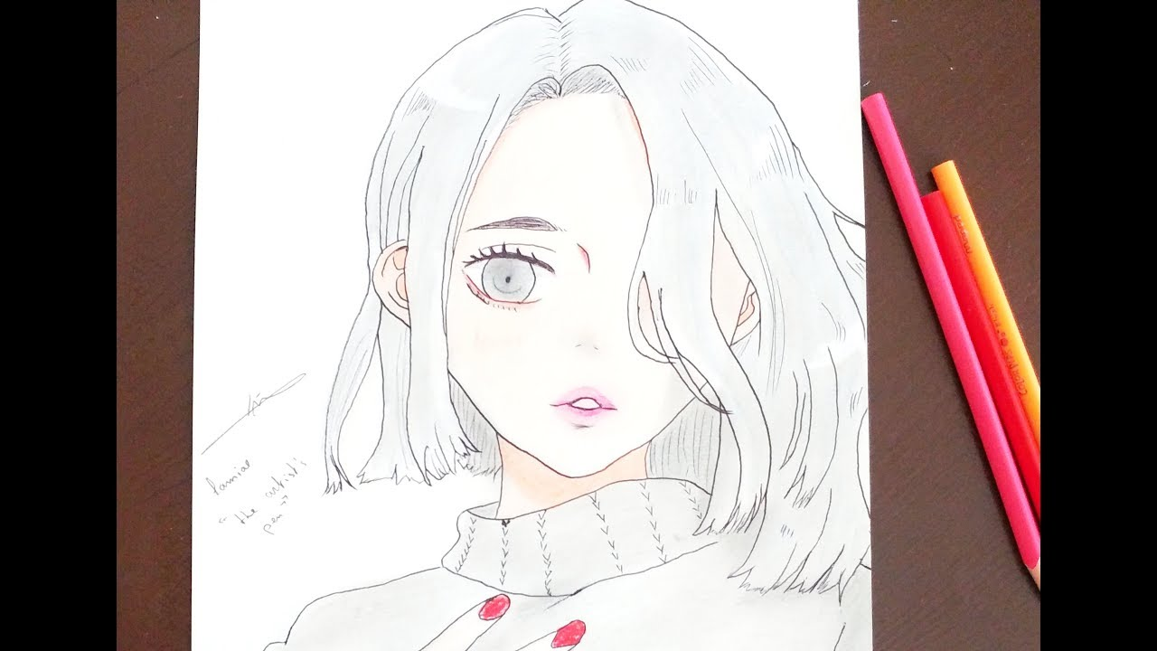 Anime Girl Easy Drawing At Getdrawings Com Free For