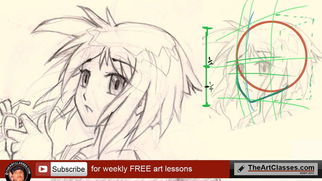 1280x720 How To Draw Anime Girl Face Proportions And Structures.