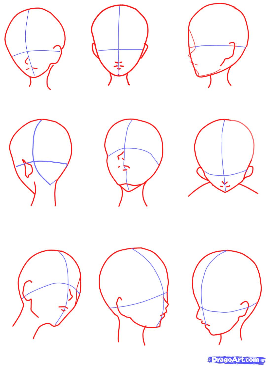 1087x1500 Anime Girl Face Drawing Tutorial