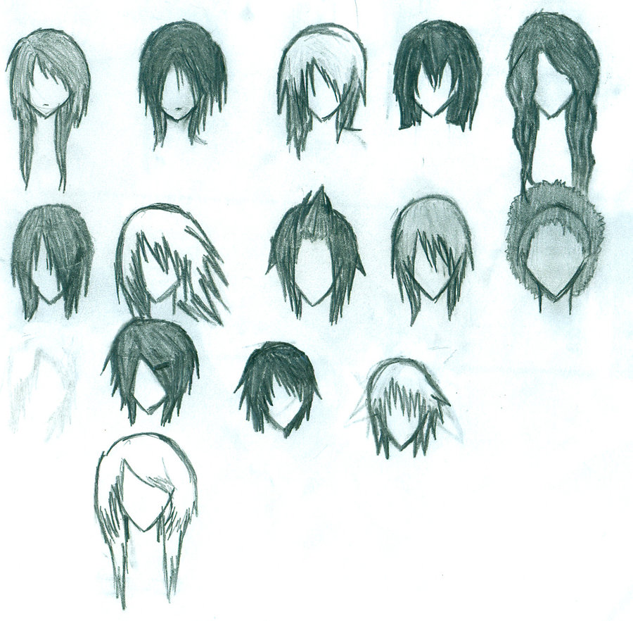Anime Girl Hair Drawing At Getdrawings Com Free For