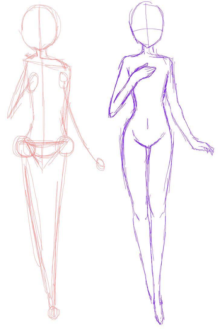 728x1096 Anime Girl Drawing Base