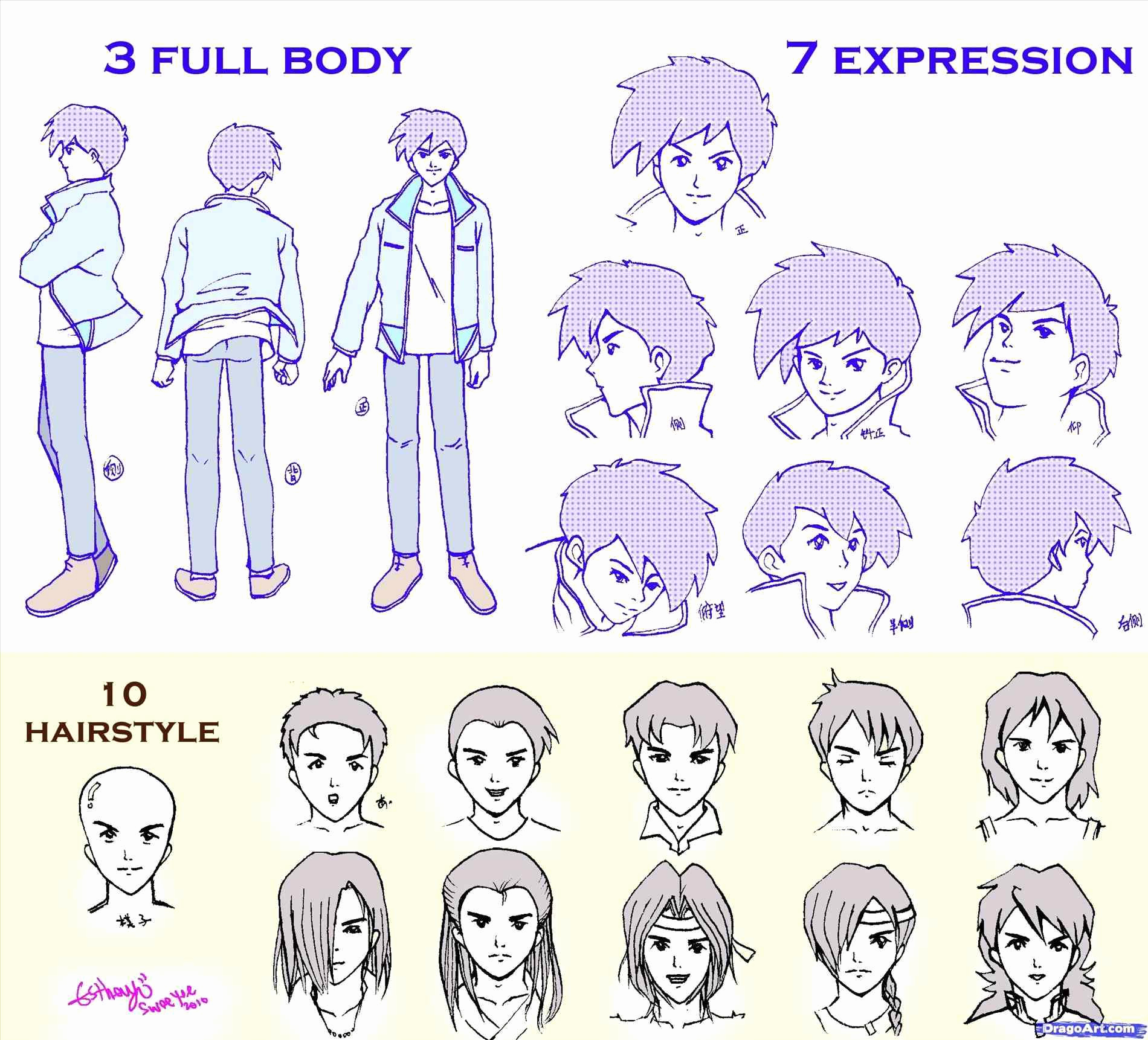 Anime Guy Hairstyles Drawing At Getdrawings Free For Personal