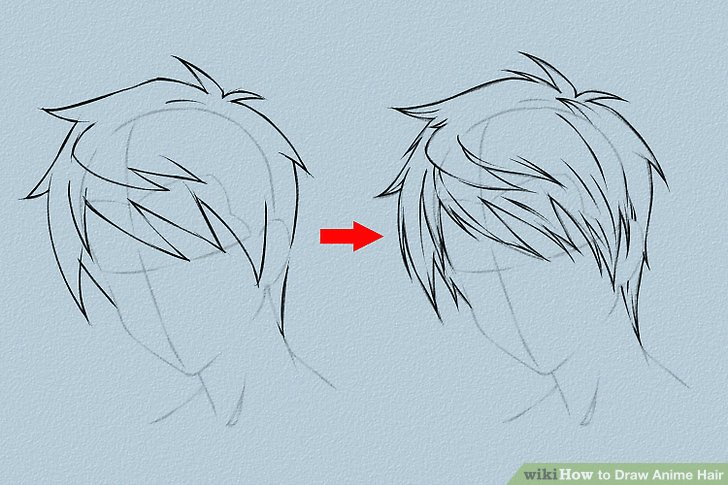 how to draw hair on a guy