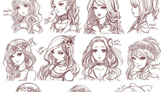570x320 anime drawing hairstyles 25 best ideas about anime hair on
