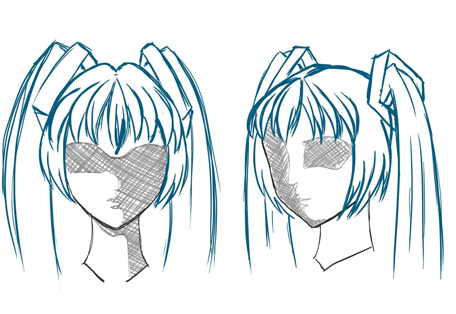 1600x1103 Anime Hair Drawing How To Draw Animemanga Hair