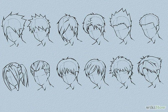 670x447 Draw Anime Hair Anime Hair, Hair Steps And Anime