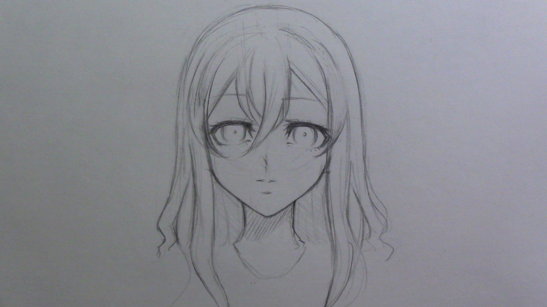 1919x1079 Mini Tutorial How To Draw Female Manga Anime Hair