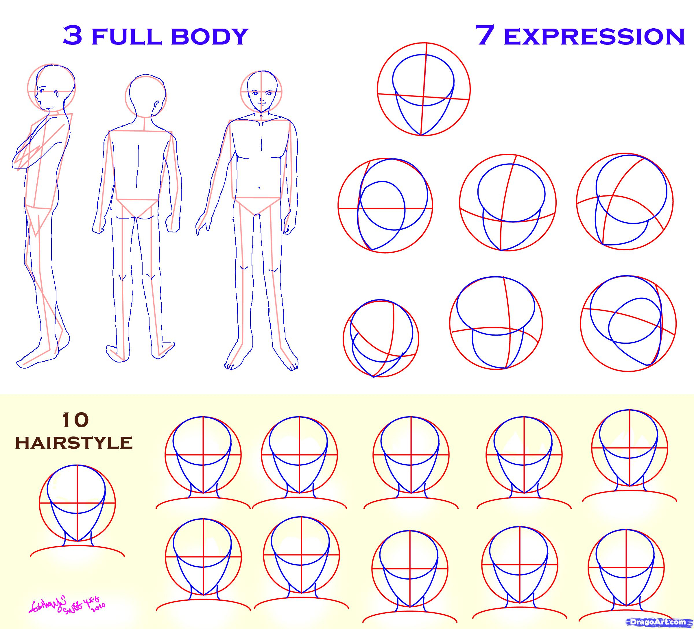 2400x2176 Drawing Anime Heads At Different Angles How To Draw Guys, Stepstep