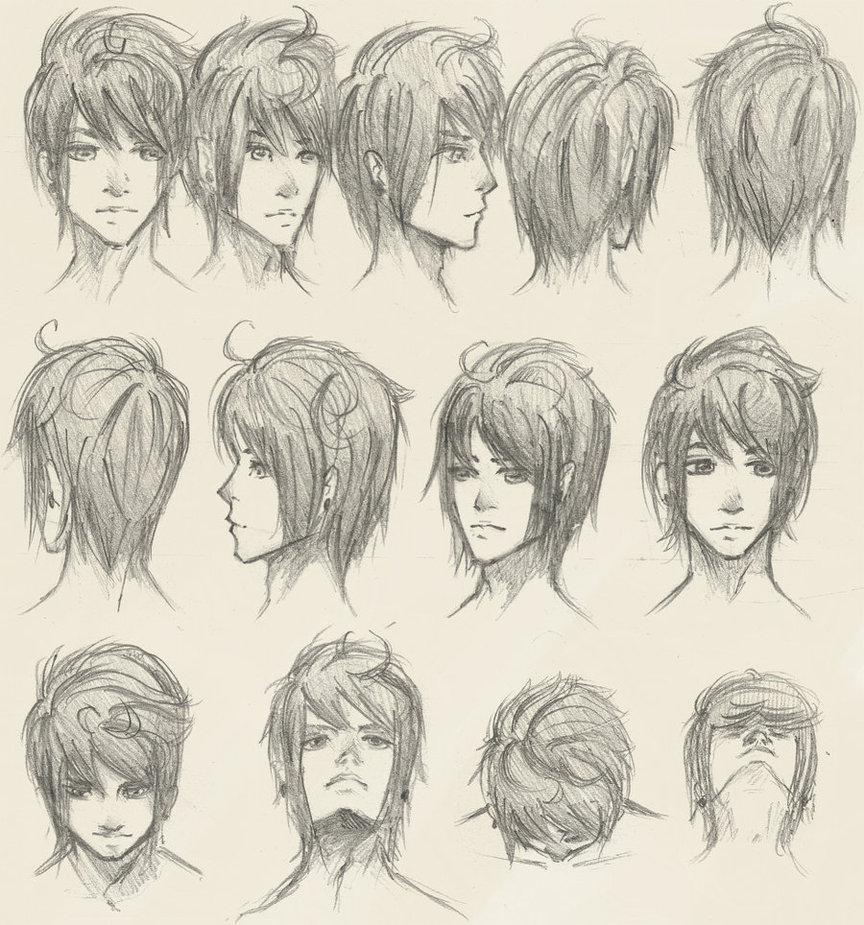 Anime Heads At Different Angles Drawing At Getdrawings Com Free