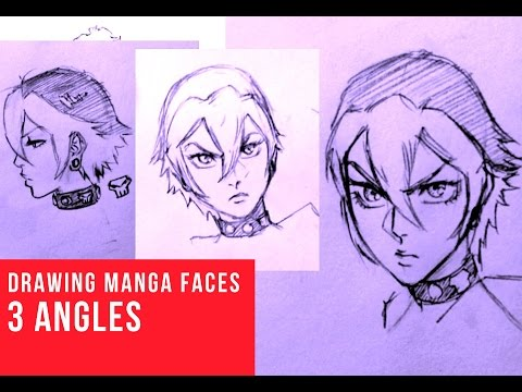 480x360 How To Draw Manga Face 3 Different Angles [Female]