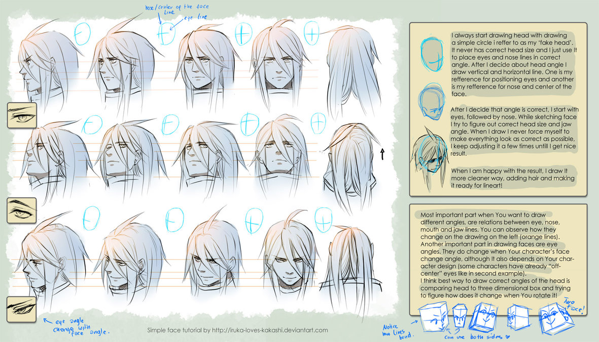 Anime Heads At Different Angles Drawing GetDrawings