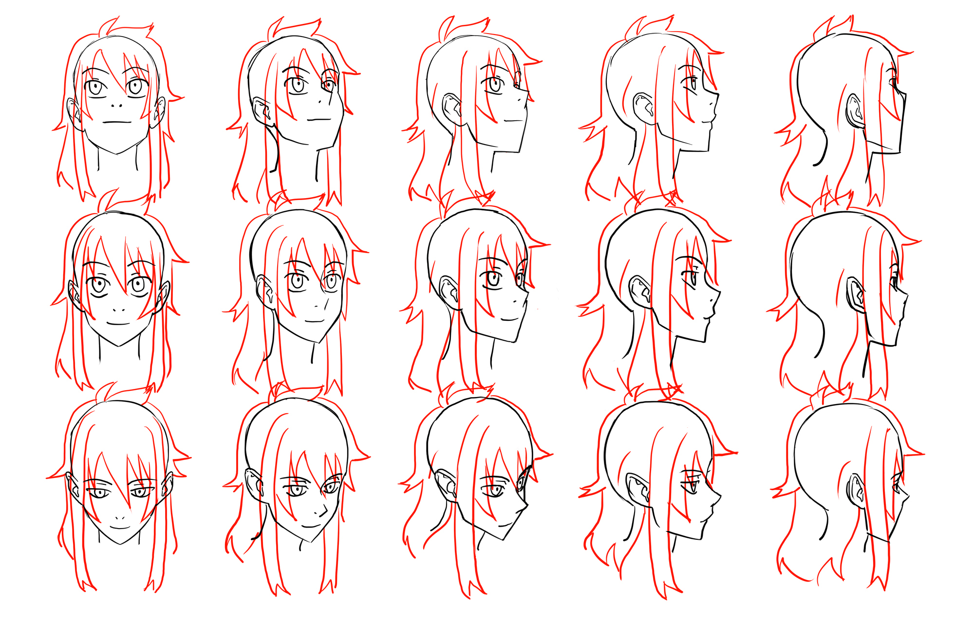 2000x1280 Anime Head Reference Image Anime Head Angles Head Reference