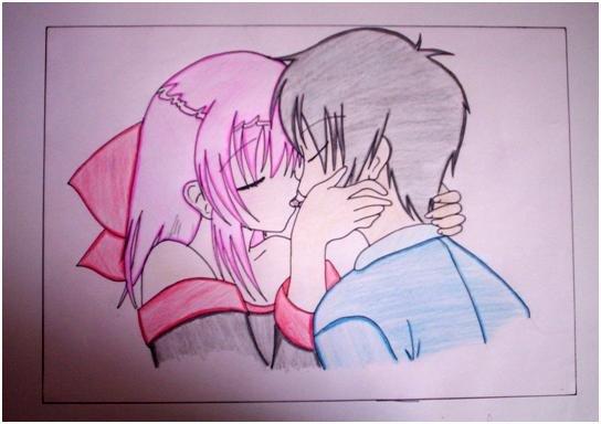 544x384 Anime Couple By Ichristiine