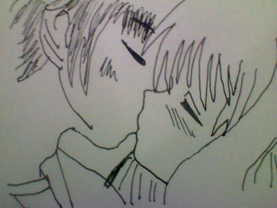 900x675 Anime Kissing By Soulessmonsterlovesu