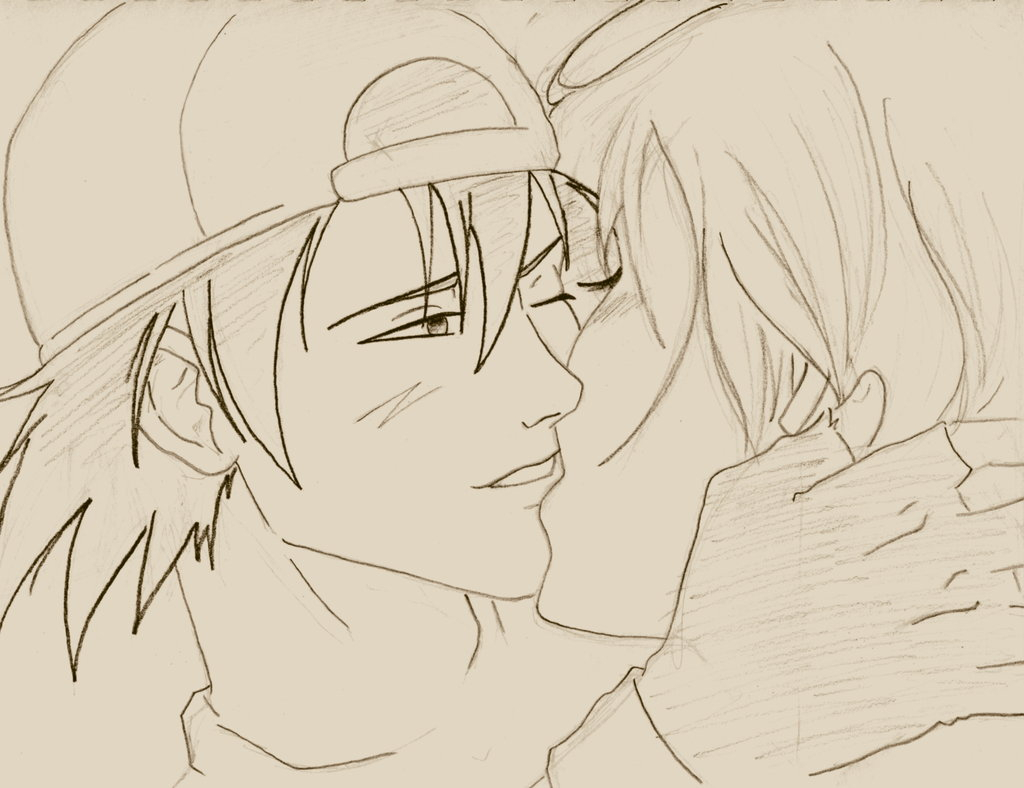 1024x788 Love Drawings Anime Anime Love Kiss Drawing