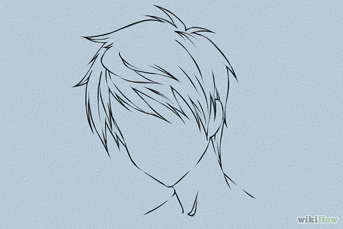 anime male hair drawing at getdrawings com free for personal use