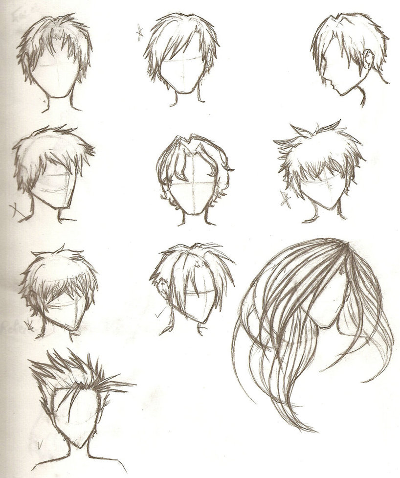 818x977 Hair Sketches By Ajbluesox