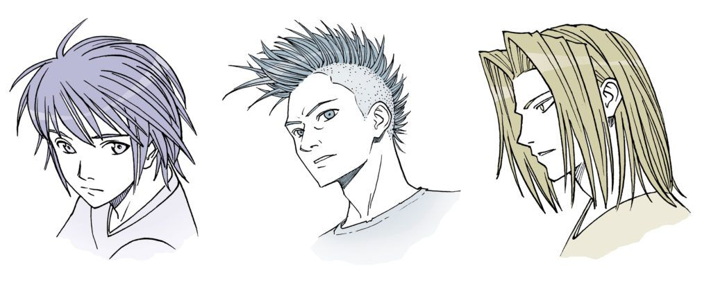 anime male hair drawing at getdrawingscom free for