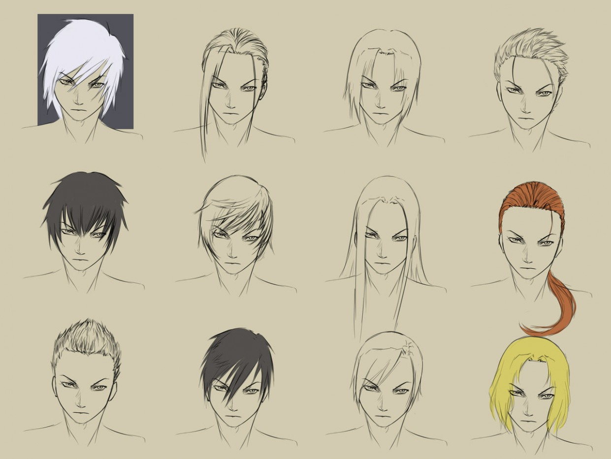 Anime Male Hair Drawing At GetDrawings.com