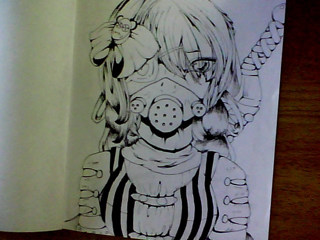 Anime mask drawing at free for personal - Anime girl with gas mask ...
