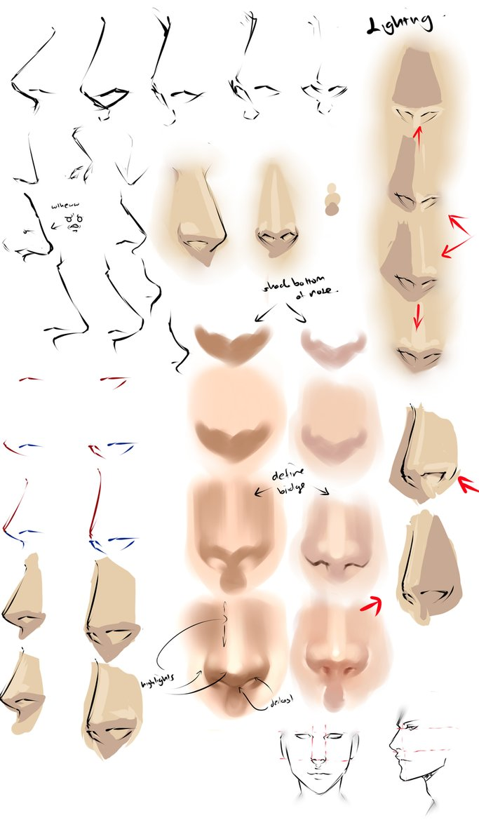 683x1169 Drawing Anime Noses By Moni158