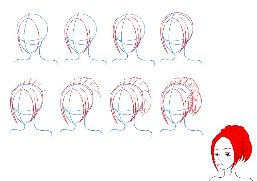 900x636 How To Draw Anime Hair By Lilliy22