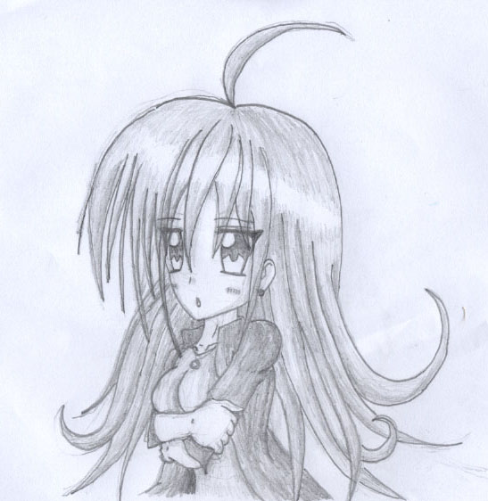 547x562 anime girl pencil drawing by oldanthropokemon on deviantart
