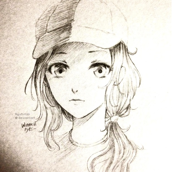 601x600 anime girl sketch by ryuhimei on deviantart