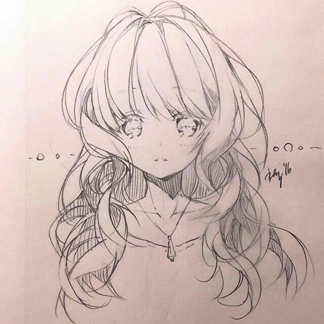 640x640 Photos Anime Girl Drawing Sketch,