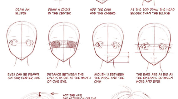 570x320 Tag Anime Face Drawing Template