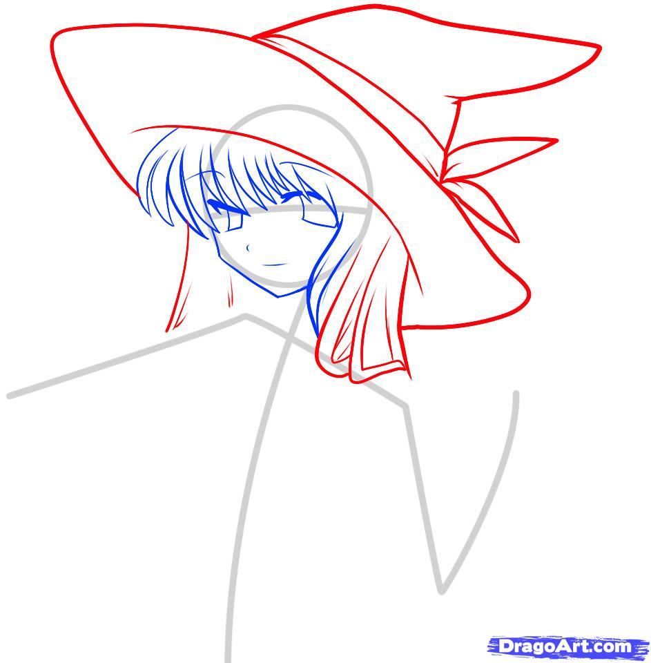 943x960 Anime Witch Drawing Anime Witch Drawing How To Draw An Anime Witch