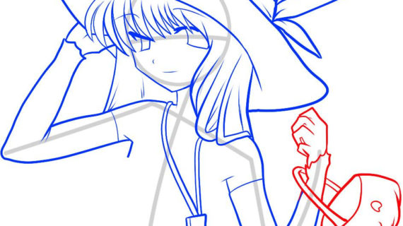 570x320 Anime Witch Drawing How To Draw An Anime Witch, Anime Witch Girl