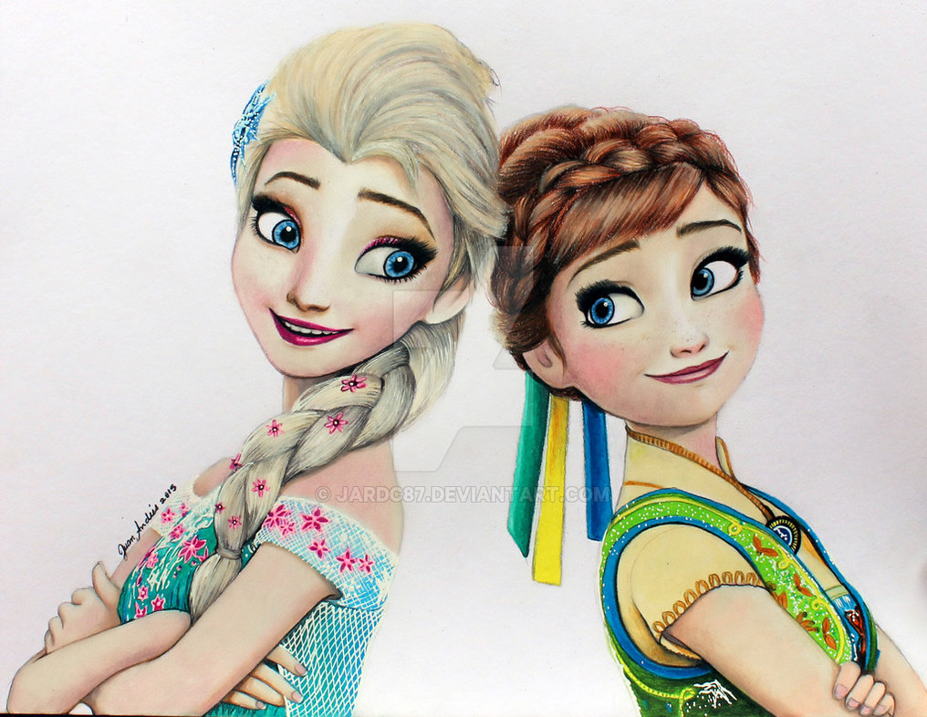 1016x786 Elsa And Anna Frozen Fever By Jardc87