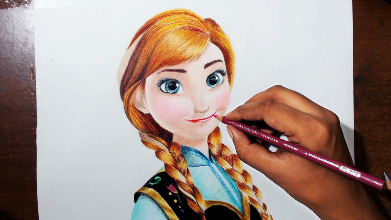 1366x768 Drawing Anna From The Movie