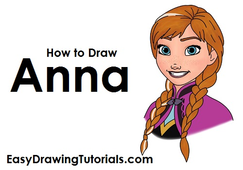 500x350 How To Draw Anna (Frozen)