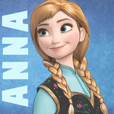 400x400 How To Draw Princess Anna From Frozen Step By Step Tutorial