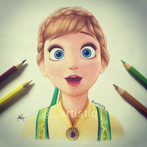 500x500 Frozen Drawing Anna Artistiq Uploaded By Karina Lima
