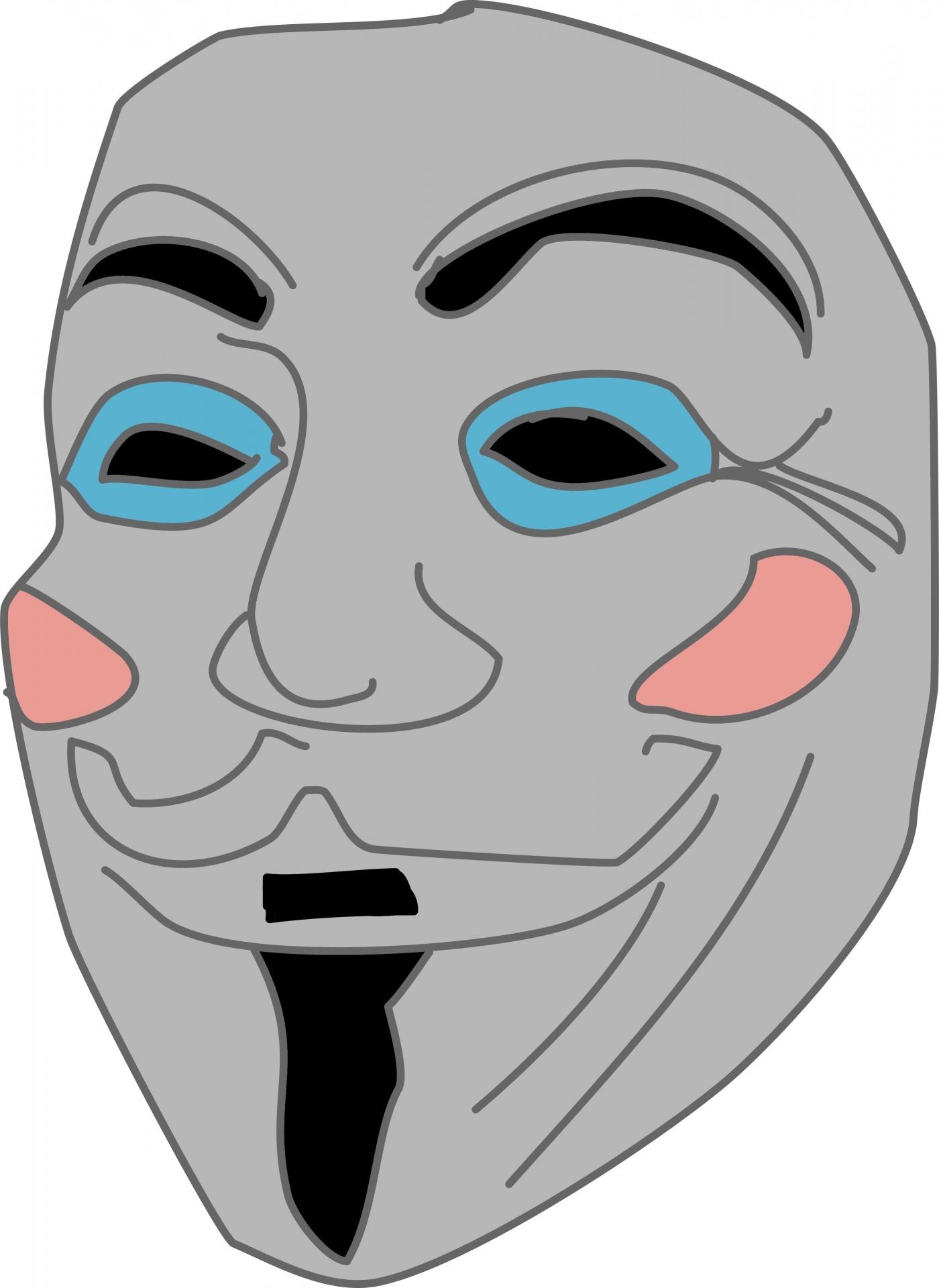 1400x1920 Anonymous Mask Drawing Anonymous Mask Drawing Free Stock Photo