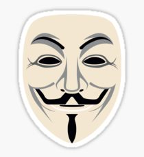 210x230 Anonymous Mask Drawing Stickers Redbubble