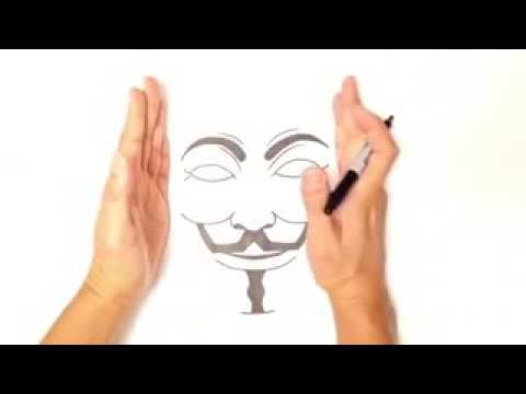480x360 How To Draw An Anonymous Mask !