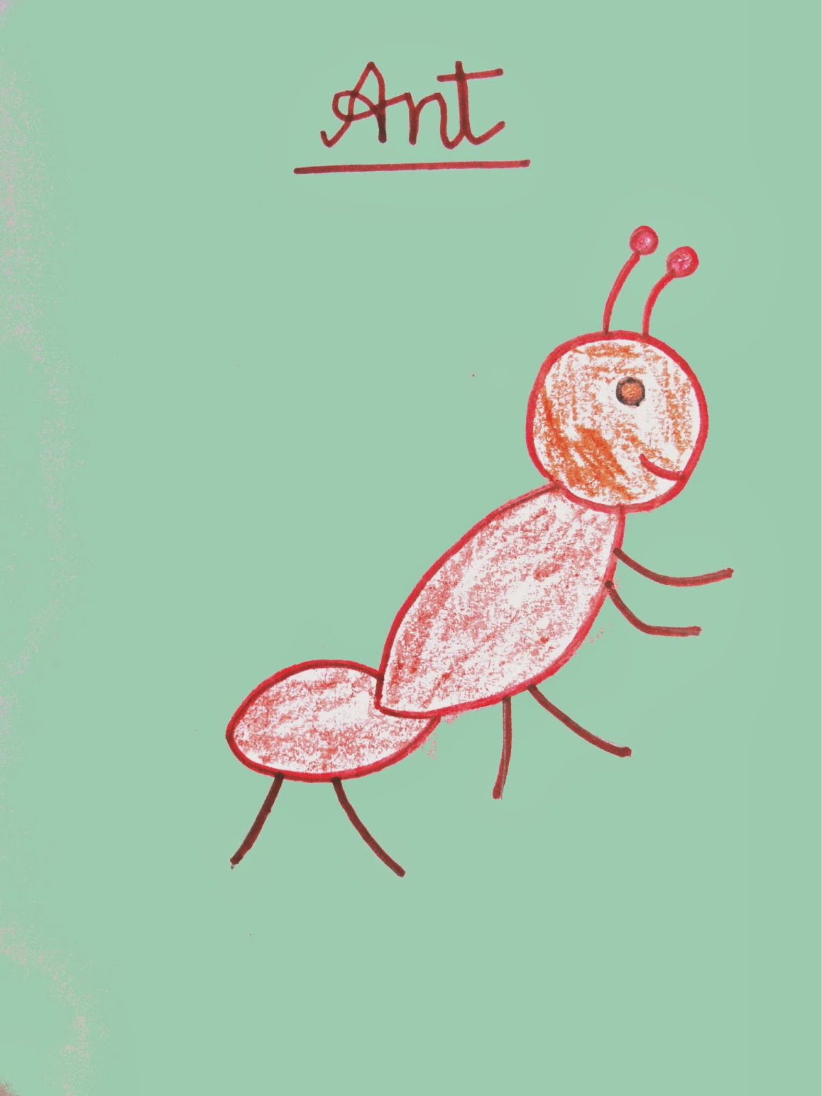 Ant Drawing For Kids at GetDrawings.com | Free for personal use Ant ...