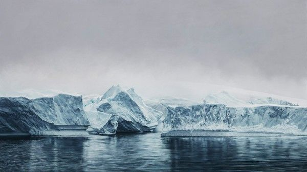 600x336 Deception Island, Antarctica Drawing By Zaria Forman From 2015
