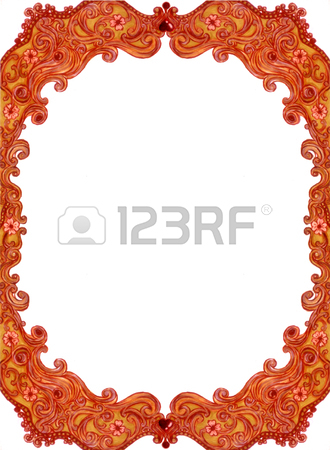 330x450 Illustration Of Antique Oriental Frame, Classic Of Golden Frame