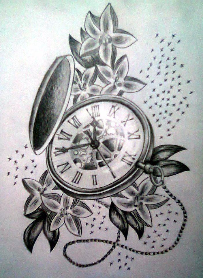 704x960 Antique Pocket Watch Tattoo Ideas ~ Tattooic