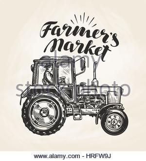 300x331 Farm Tractor Sketch. Hand Drawn Vector Illustration Stock Vector