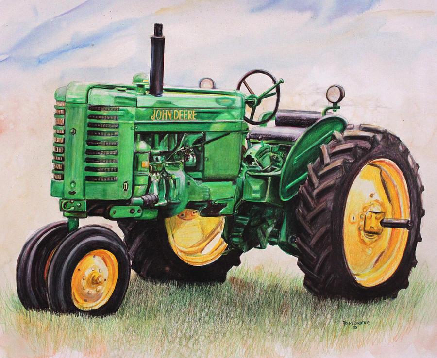 900x738 John Deere Tractor Painting