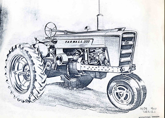 antique tractor drawing at getdrawingscom free for