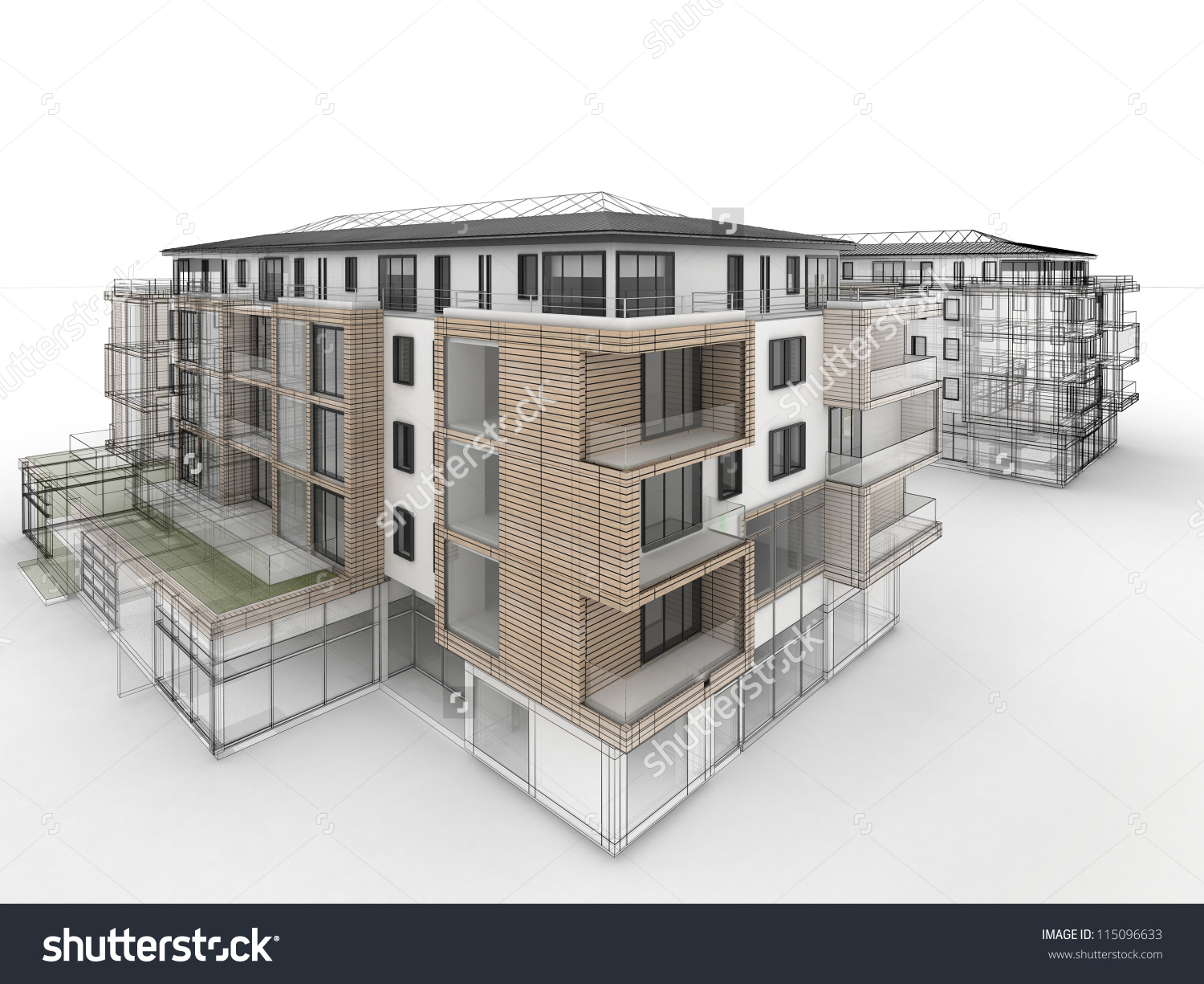 1500x1225 Modern Style Apartment Building Drawing Apartment Building Design
